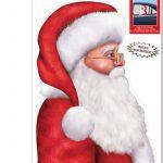 Santa Backseat Driver Window Cling