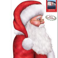 Santa Backseat Driver Window Cling