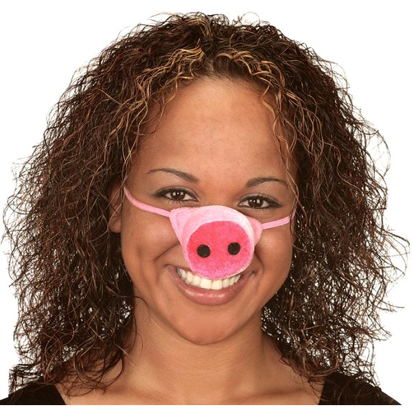 Plush Pig Nose with Elastic Band