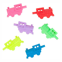 Neon plastic Train Whistle