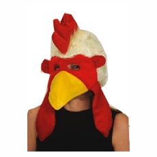 Deluxe Plush Chicken Headpiece Hat
