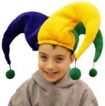 Jester Hat w/ Pom Poms