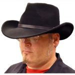 black felt western mens hat