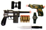 Plastic Military Guns and Accessories Set