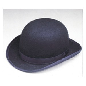 Black wool derby