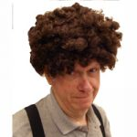Brown Curly Clown Wig