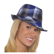 Plaid Fabric Fedora - Available in Assorted Colors