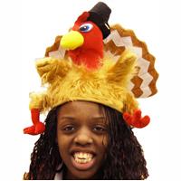 Plush Fantail Turkey Hat