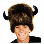 Buffalo Lodge Hat with Horns