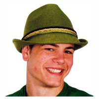 Green Heavy Felt Alpine Hat