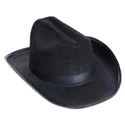 Western Hat with Band and Cord - Available in Black or White
