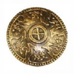 Viking Roman Round Gold Plastic Shield