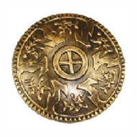 Viking Roman Round Gold Plastic Shield