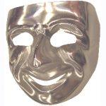 Silver comedy mask