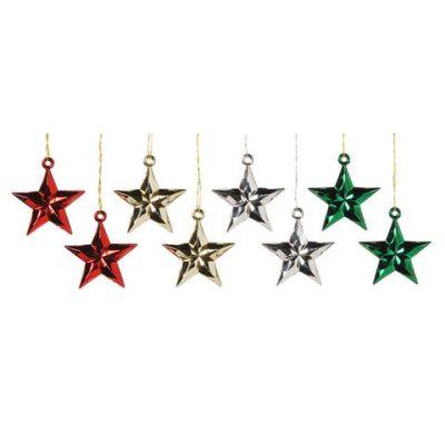 Mini Metallic Plastic Star Ornament