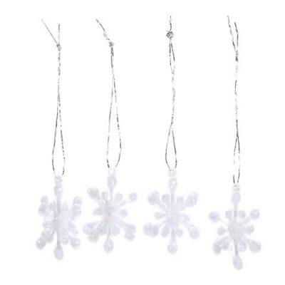 Mini Mica 3D Snowflake Ornaments