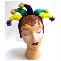 Fabric Mardi Gras Jester Headband