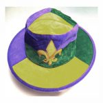 Round Fabric Mardi Gras Hat with Emblem