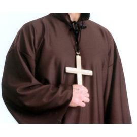 Monk Cross On A Rope Gold Cross