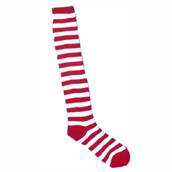 Striped Socks - Red and White stripes