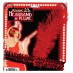 Red Flapper Headband Roaring 20's