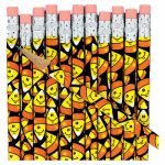 Smile Face Candy Corn Pencils