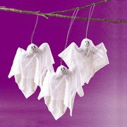 "7"" Fabric White Hanging Ghost"