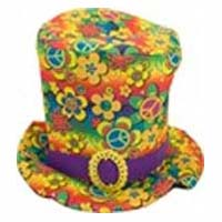 Top Hat w/ Flowers & Peace Signs