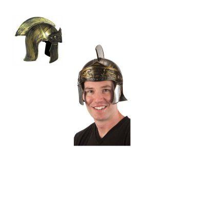Brushed Gold Plastic Roman Helmet Hat