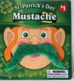 St. Patrick's Leprechaun Plush Moustache Green