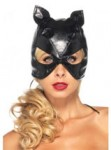 black cat mask - sexy faux leather