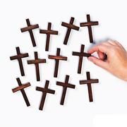 3.25 Inch Wooden Cross - Brown