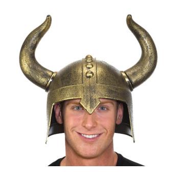Plastic Medieval Helmet w Horns