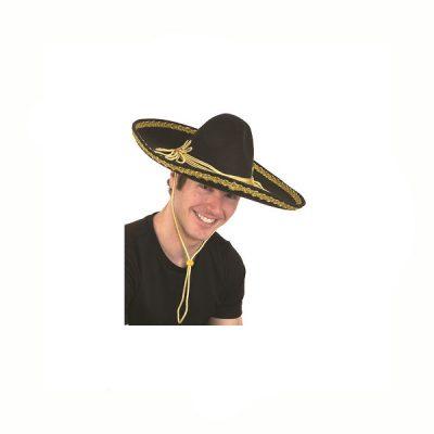 Deluxe Felt Mexican Mariachi Sombrero Hat