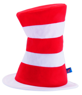 Costume Fabric Cat in the Hat Striped Hat