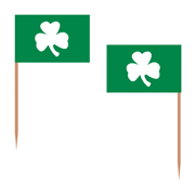 Shamrock Toothpick Flags