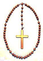 Jumbo Wooden Bead Rosary