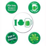 St. Pat's Party Buttons- 5 on a Card