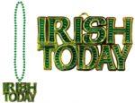 """Irish Today"" Metallic Bead Necklace"