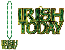 """Irish Today"" Metallic Bead Necklace"