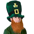 Leprechaun Hat with Beard St. Patrick's Day Parade Party