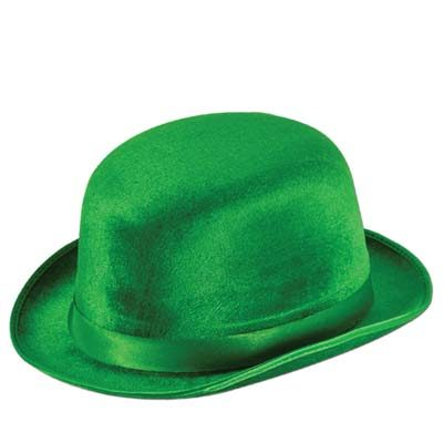 Green Vel Felt Derby Hat