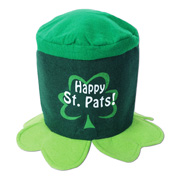 "St. Patricks' Day Hat says ""Happy St. Pats!"""