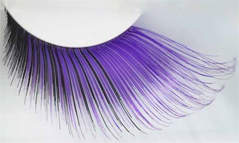 Eyelashes long luxurious purple black