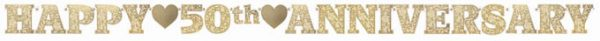 Golden Anniversary Illustrated Letter Banner