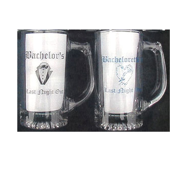 Bachelor and Bachelorette Stein Glass Beer Mug
