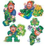 """Leprechaun Cutouts - 14"""" Each, 4 Pack"""