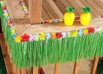 Raffia Deck Fringe with Flower Trim