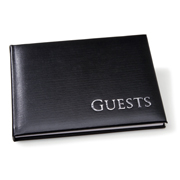 Black and Silver Embossed Guest Book