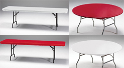 Table Cover w/ Stay-Put technology elastic & adhesive